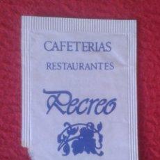 Sobres de azúcar de colección: SOBRE DE AZÚCAR PACKET OF SUGAR SUCRE ZUCKER ZUCCHERO CAFETERÍAS RESTAURANTES RECREO MADRID ? VER.... Lote 221439641