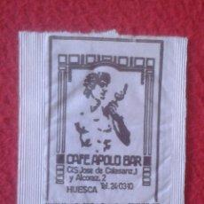 Sobres de azúcar de colección: SOBRE DE AZÚCAR PACKET OF SUGAR SUCRE ZUCKER ZUCCHERO CAFÉ APOLO BAR HUESCA ARAGÓN VER FOTOS......... Lote 221456995