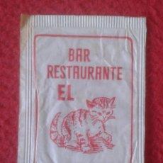 Sobres de azúcar de colección: SOBRE DE AZÚCAR PACKET OF SUGAR SUCRE ZUCKER ZUCCHERO BAR RESTAURANTE EL GATO CHIPIONA CÁDIZ CAT..... Lote 221457412