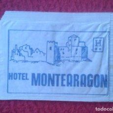 Sobres de azúcar de colección: SOBRE DE AZÚCAR PACKET OF SUGAR SUCRE ZUCKER ZUCCHERO HOTEL MONTEARAGÓN HUESCA ARAGÓN VER FOTOS...... Lote 221457936