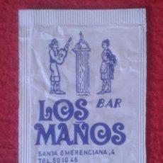 Sobres de azúcar de colección: SOBRE DE AZÚCAR PACKET OF SUGAR SUCRE ZUCKER ZUCCHERO BAR LOS MAÑOS TERUEL ARAGÓN VER FOTOS...SPAIN.. Lote 221458293