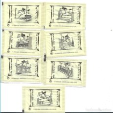 Sobres de azúcar de colección: SALTOS DE HÍPICA, COLOR CREMA.. 7 SOBRES AZÚCAR VACIOS. ENVASADOR PALUPA.. Lote 221605956