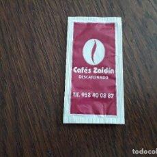 Sobres de azúcar de colección: SOBRE DE AZÚCAR VACÍO DE PUBLICIDAD, CAFÉS ZAIDIN.. Lote 221766051