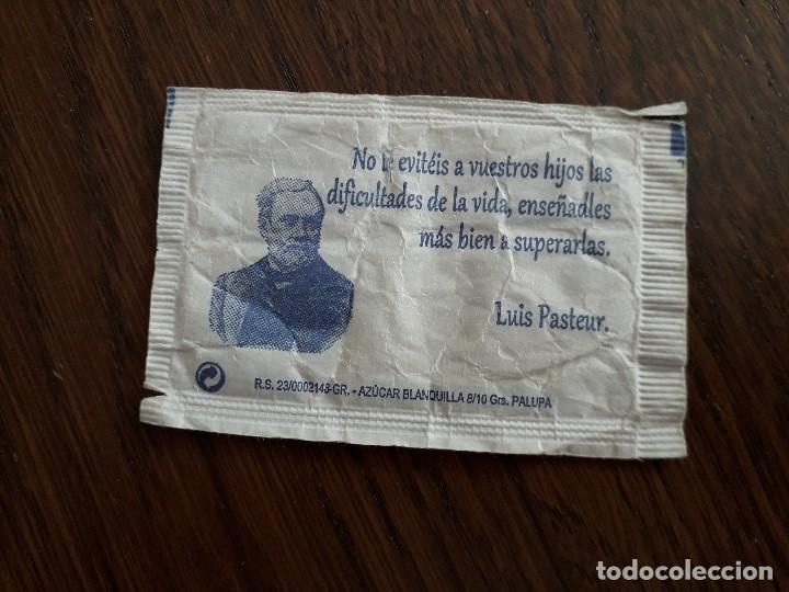 Sobres de azúcar de colección: sobre de azúcar vacío de publicidad, cafetería Vda. de Manuel Muñoz, con frase al dorso.Loja.Granada - Foto 2 - 221767645