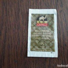 Pacotes de Açúcar de coleção: SOBRE DE AZÚCAR VACÍO DE PUBLICIDAD, CAFES CAMELO, FELIZ NAVIDAD. Lote 221767877