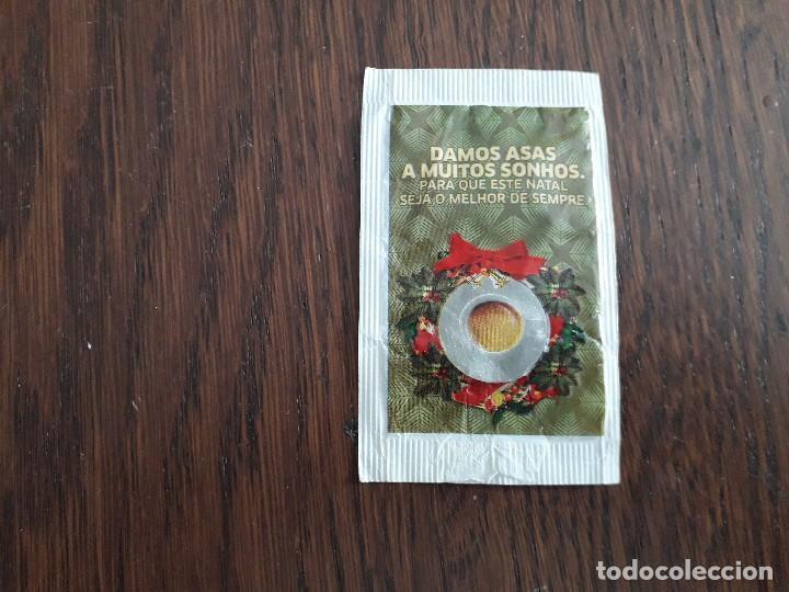 Sobres de azúcar de colección: sobre de azúcar vacío de publicidad, cafes Camelo, feliz navidad - Foto 2 - 221767877