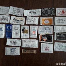Sobres de azúcar de colección: LOTE DE 25 SOBRES DE AZÚCAR VACÍOS DE PUBLICIDAD DE BARES, HOTELES, RESTAURANTES DE LAS BALEARES.. Lote 221768466