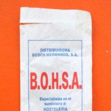 Sobres de azúcar de colección: SOBRE DE AZÚCAR VACIO DE PUBLICIDAD B.O.H.S.A. TARREGA, ESPAÑA. Lote 221930830