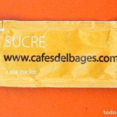 Sobres de azúcar de colección: SOBRE DE AZÚCAR VACIO DE PUBLICIDAD CAFÉS DEL BAGES, BARCELONA, ESPAÑA. Lote 237618330