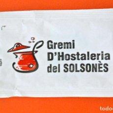 Sobres de azúcar de colección: SOBRE DE AZÚCAR VACIO DE PUBLICIDAD GREMI D'HOSTELERIA DEL SOLSONES, SOLSONA , ESPAÑA. Lote 221933573