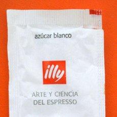 Sobres de azúcar de colección: SOBRE DE AZÚCAR VACIO DE PUBLICIDAD ILLY. Lote 221935687