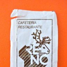 Sobres de azúcar de colección: SOBRE DE AZÚCAR VACIO DE PUBLICIDAD CAFETERIA RESTAURANTE RENO , LLEIDA , ESPAÑA. Lote 221935931