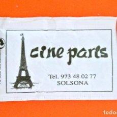 Sobres de azúcar de colección: SOBRE DE AZÚCAR VACIO DE PUBLICIDAD CINE PARIS , SOLSONA , ESPAÑA. Lote 221942121