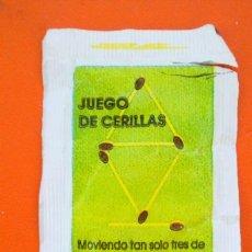 Sobres de azúcar de colección: SOBRE DE AZÚCAR VACIO DE PUBLICIDAD BARA ESQUERRA, SERIE PASATIEMPOS, BARCELONA, ESPAÑA. Lote 221943692