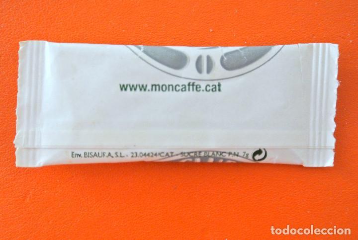 Sobres de azúcar de colección: Sobre de azúcar vacio de publicidad MONCAFFÉ , BARCELONA , ESPAÑA - Foto 2 - 222056950