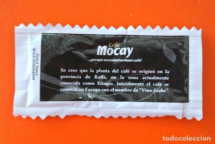 Sobres de azúcar de colección: Sobre de azúcar vacio de publicidad AZUCAR EXCLUSIVE ARABICA - CAFÉ MOCAY , ESPAÑA - Foto 2 - 222057731