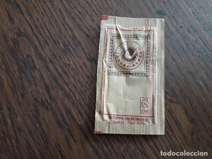 Sobres de azúcar de colección: sobre de azúcar vacío de publicidad, Cedi, azúcar. - Foto 2 - 222067021