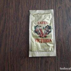 Sobres de azúcar de colección: SOBRE DE AZÚCAR VACÍO DE PUBLICIDAD, CAFÉS VICTORIA.. Lote 222067531
