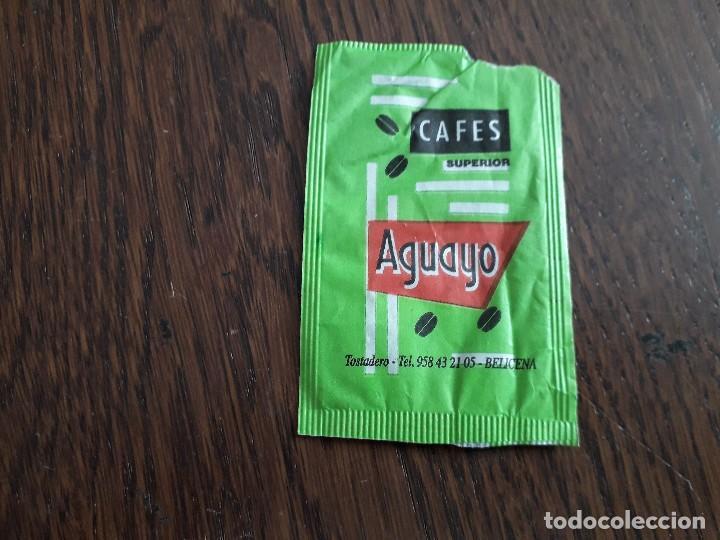 Sobres de azúcar de colección: sobre de azúcar vacío de publicidad, café de Colombia, cafés Aguayo. - Foto 2 - 222069090