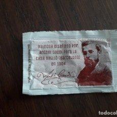 Sobres de azúcar de colección: SOBRE DE AZÚCAR VACÍO DE PUBLICIDAD, CAFÉ BAR GAUDÍ, LOGROÑO.. Lote 223426092