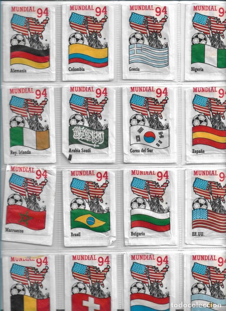 MUNDIAL FUTBOL 94, SERIE DE 24 SOBRES DE AZÚCAR VACIOS. CAFÉS BRASILIA. (Coleccionismos - Sobres de Azúcar)