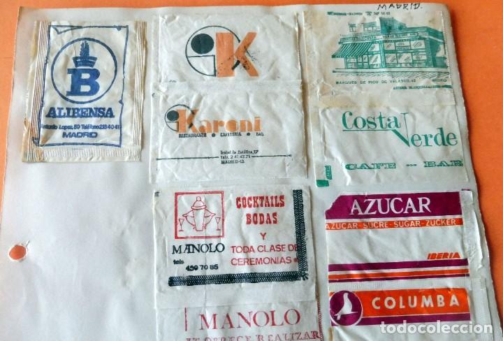 Sobres de azúcar de colección: OPORTUNIDAD - 22 SOBRES DE AZÚCAR DE MADRID - MUY ANTIGUOS - VER FOTOS - Foto 2 - 232326970