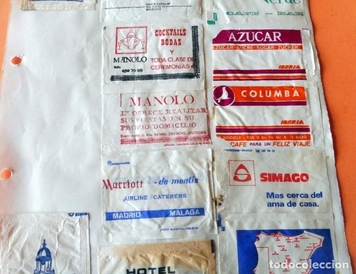 Sobres de azúcar de colección: OPORTUNIDAD - 22 SOBRES DE AZÚCAR DE MADRID - MUY ANTIGUOS - VER FOTOS - Foto 3 - 232326970