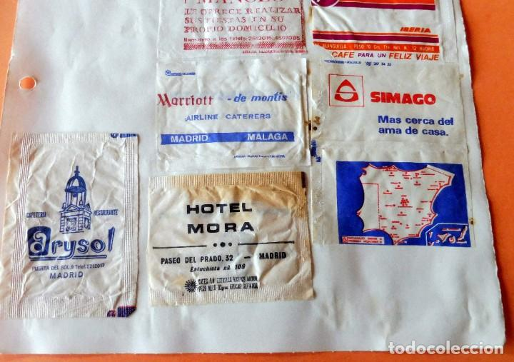 Sobres de azúcar de colección: OPORTUNIDAD - 22 SOBRES DE AZÚCAR DE MADRID - MUY ANTIGUOS - VER FOTOS - Foto 4 - 232326970