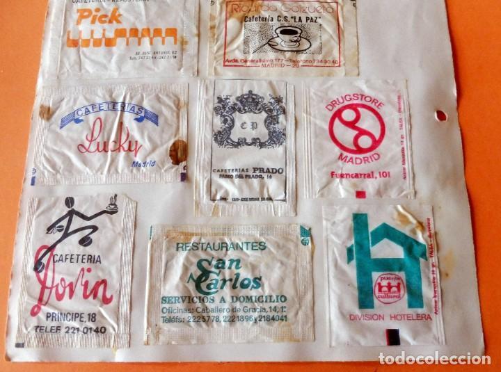 Sobres de azúcar de colección: OPORTUNIDAD - 22 SOBRES DE AZÚCAR DE MADRID - MUY ANTIGUOS - VER FOTOS - Foto 7 - 232326970