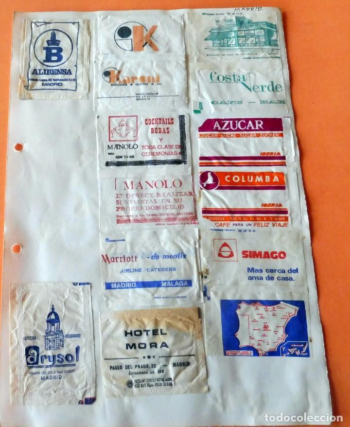 OPORTUNIDAD - 22 SOBRES DE AZÚCAR DE MADRID - MUY ANTIGUOS - VER FOTOS (Coleccionismos - Sobres de Azúcar)