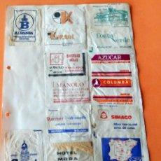 Sobres de azúcar de colección: OPORTUNIDAD - 22 SOBRES DE AZÚCAR DE MADRID - MUY ANTIGUOS - VER FOTOS. Lote 232326970