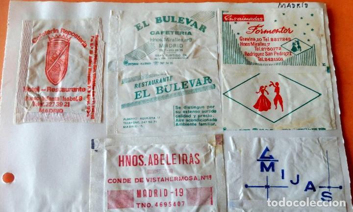 Sobres de azúcar de colección: OPORTUNIDAD - 25 SOBRES DE AZÚCAR DE MADRID - MUY ANTIGUOS - VER FOTOS - Foto 2 - 232330235