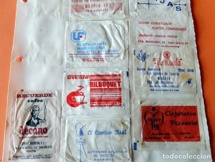 Sobres de azúcar de colección: OPORTUNIDAD - 25 SOBRES DE AZÚCAR DE MADRID - MUY ANTIGUOS - VER FOTOS - Foto 3 - 232330235