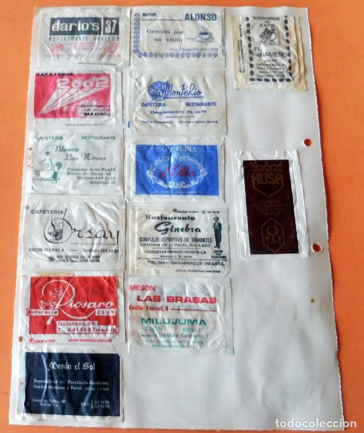 Sobres de azúcar de colección: OPORTUNIDAD - 25 SOBRES DE AZÚCAR DE MADRID - MUY ANTIGUOS - VER FOTOS - Foto 4 - 232330235