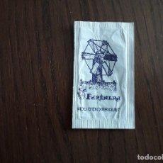 Bustine di zucchero di collezione: SOBRE DE AZÚCAR VACÍO DE PUBLICIDAD,RESTAURANT SA FARINERA,MOLÍ DEN XERIQUET,CAN PASTILLA.MALLORCA. Lote 232514040