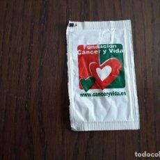 Bustine di zucchero di collezione: SOBRE DE AZÚCAR VACÍO DE PUBLICIDAD, FUNDACIÓN CÁNCER Y VIDA.. Lote 232517935