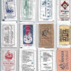 Bustine di zucchero di collezione: SITGES, RESTAURANT, BAR, PENYA BARCELONISTA. 12 SOBRES AZÚCAR VACIOS.. Lote 233568995