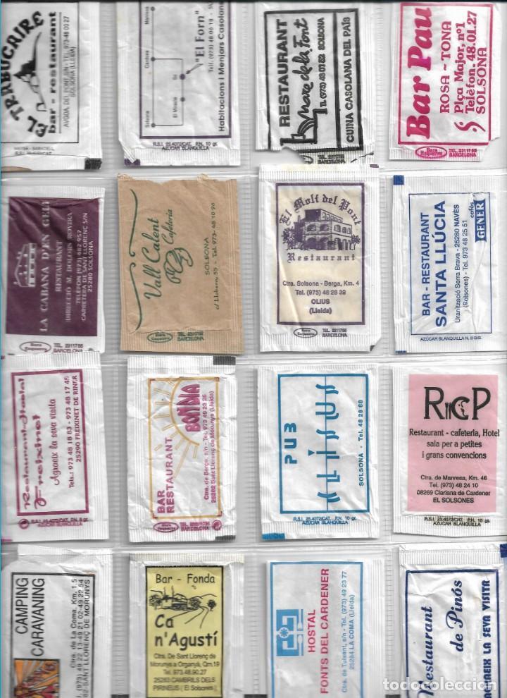 SOLSONÈS, SOLSONA, OLIUS, NAVÈS, SANT LLORENÇ, LA COMA, PINÓS, CAMBRILS... 16 SOBRES AZÚCAR VACIOS. (Coleccionismos - Sobres de Azúcar)