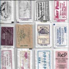 Bustine di zucchero di collezione: SOLSONÈS, SOLSONA, OLIUS, NAVÈS, SANT LLORENÇ, LA COMA, PINÓS, CAMBRILS... 16 SOBRES AZÚCAR VACIOS.. Lote 233574000