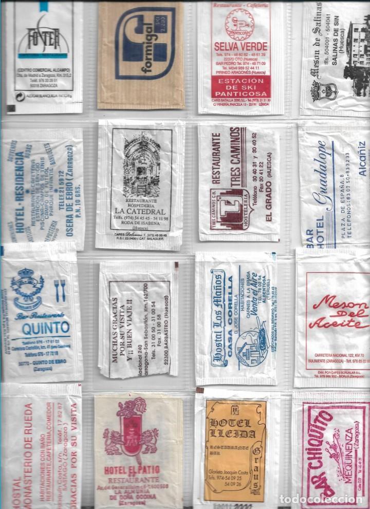 ARAGÓN, 16 SOBRES AZÚCAR VACIOS. RESTAURANT, HOTEL, BAR, CAFETERIA, PIZZERIA... (Coleccionismos - Sobres de Azúcar)
