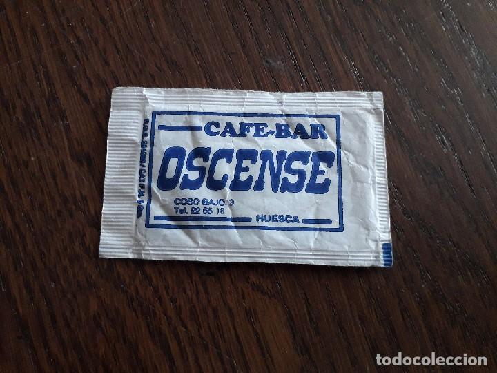 SOBRE DE AZÚCAR VACÍO DE PUBLICIDAD, CAFÉ BAR OSCENSE. HUESCA. (Coleccionismos - Sobres de Azúcar)