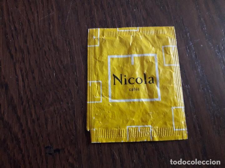 Sobres de azúcar de colección: sobre de azúcar vacío de publicidad, cafés Nicola. - Foto 2 - 236161790