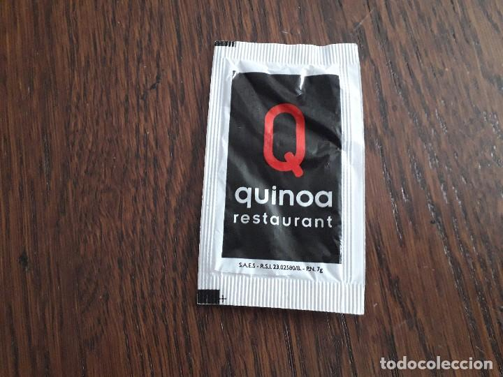 Sobres de azúcar de colección: sobre de azúcar vacío de publicidad, Quinoa restaurant. Falset. Tarragona - Foto 2 - 236256170