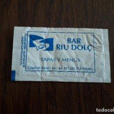 Bustine di zucchero di collezione: SOBRE DE AZÚCAR VACÍO DE PUBLICIDAD, BAR RIU DOLÇ, PALMA DE MALLORCA.. Lote 240631365