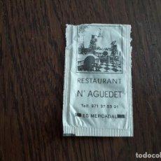 Bustine di zucchero di collezione: SOBRE DE AZÚCAR VACÍO DE PUBLICIDAD, RESTAURANT NAGUEDET, ES MERCADAL. MENORCA. Lote 240721635