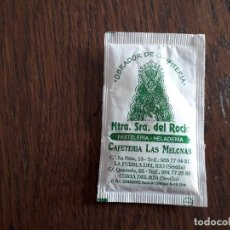 Bustine di zucchero di collezione: SOBRE DE AZÚCAR VACÍO DE PUBLICIDAD, CAFETERÍA LAS MELONAS-NUESTRA SEÑORA DEL ROCIO. SEVILLA. Lote 241118375