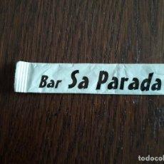 Bustine di zucchero di collezione: SOBRE DE AZÚCAR VACÍO DE PUBLICIDAD, BAR SA PARADA, CAMPOS. MALLORCA.. Lote 241126705