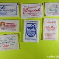 Bustine di zucchero di collezione: REF: SA-1234 - COLECCION MILES SOBRES AZUCAR SUGAR PACKET - LEER INT.- 7 UD. ZARAGOZA JACA HUESCA. Lote 241889910