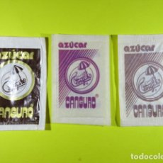 Sachets de sucre de collection: REF: SA-1234 COLECCION MILES SOBRES AZUCAR SUGAR PACKET LEER INT. 3 UD. AZUCAR CANGURO. Lote 241899110