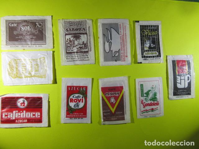 Sobres de azúcar de colección: REF: SA-1234 COLECCION MILES SOBRES AZUCAR Sugar packet LEER INT. 10 UD. CAFE VIENA VENDIN SOL SABOR - Foto 2 - 241900815